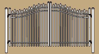 Aluminum Estate Gates For Residential Commercial